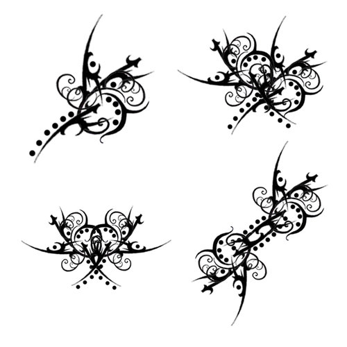 Sher's Dolphin Circle Tattoo Filigree Circle clip art