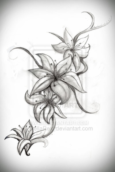 tattoo lily. Lily Tattoo Design by