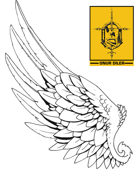 tattoo hermes wing by